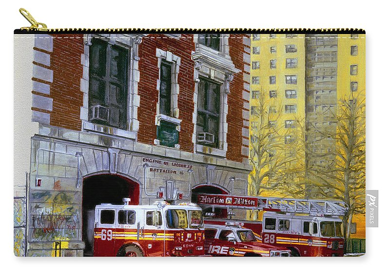 Fdny Carry-all Pouch featuring the painting Harlem Hilton by Paul Walsh