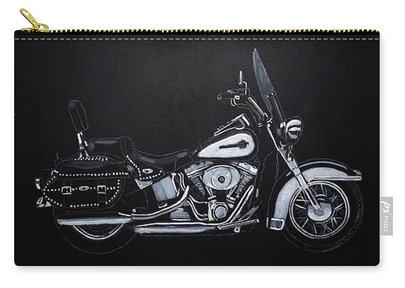 Bike Carry-all Pouch featuring the painting Harley Davidson Snap-on by Richard Le Page
