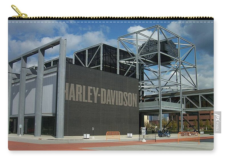 Carry-all Pouch featuring the photograph Harley Museum by Anita Burgermeister