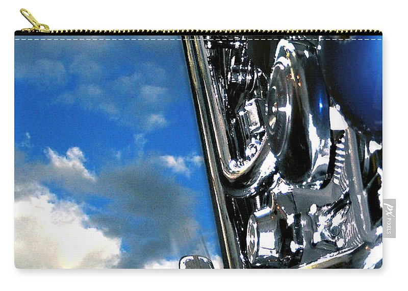 Motor Cycle Carry-all Pouch featuring the photograph Harley by Steve Karol