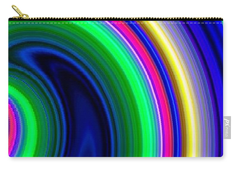 Abstract Carry-all Pouch featuring the digital art Harmony 19 by Will Borden