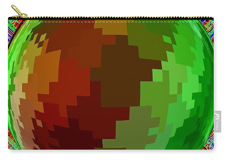 Abstract Carry-all Pouch featuring the digital art Harmony 2 by Will Borden