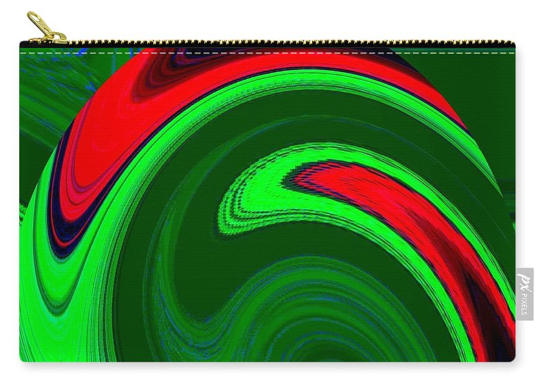 Abstract Carry-all Pouch featuring the digital art Harmony 20 by Will Borden