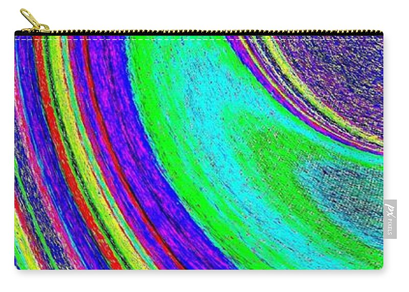 Abstract Carry-all Pouch featuring the digital art Harmony 21 by Will Borden