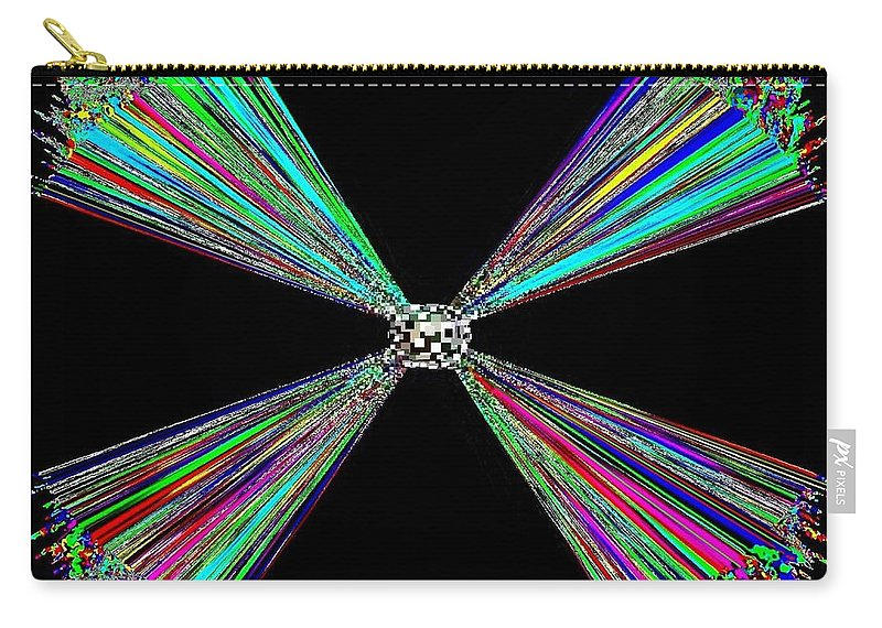 Abstract Carry-all Pouch featuring the digital art Harmony 25 by Will Borden