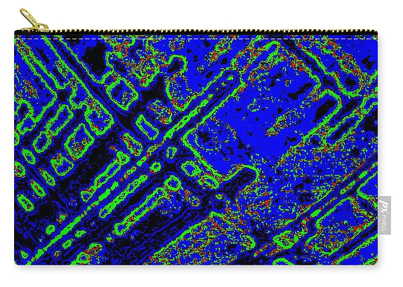 Abstract Carry-all Pouch featuring the digital art Harmony 3 by Will Borden
