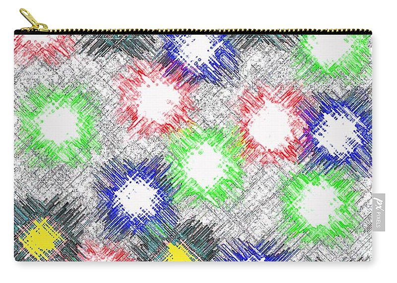 Abstract Carry-all Pouch featuring the digital art Harmony 32 by Will Borden