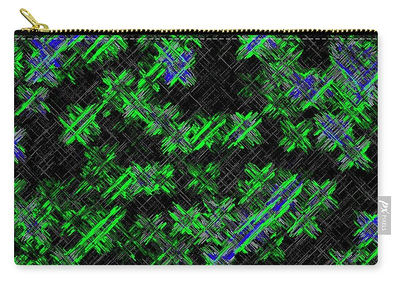Abstract Carry-all Pouch featuring the digital art Harmony 33 by Will Borden