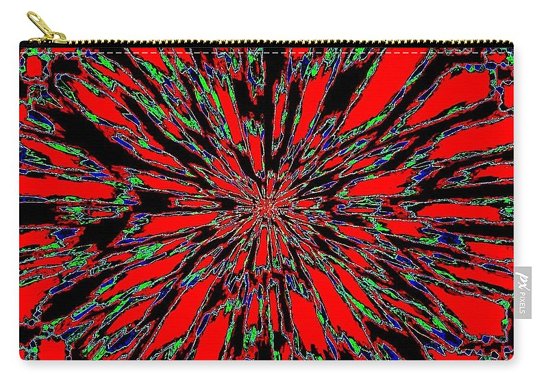 Abstract Carry-all Pouch featuring the digital art Harmony 37 by Will Borden