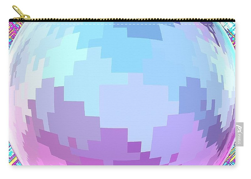 Abstract Carry-all Pouch featuring the digital art Harmony 4 by Will Borden