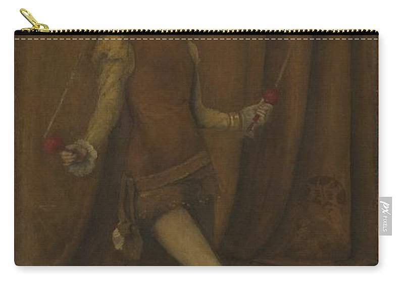 Harmony In Yellow And Gold Carry-all Pouch featuring the painting Harmony In Yellow And Gold, The Gold Girl Connie Gilchrist , James Mcneill Whistler by Adam Asar