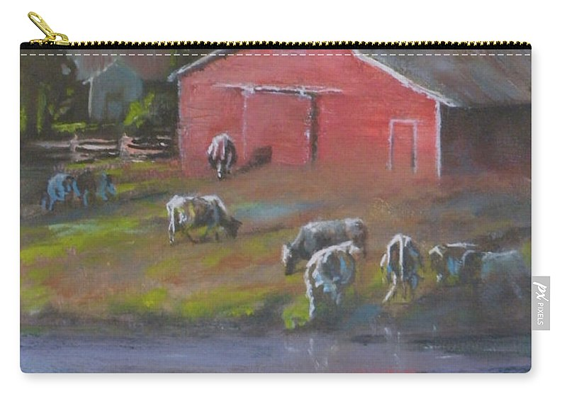 Farms Carry-all Pouch featuring the painting Harmony by Mia DeLode