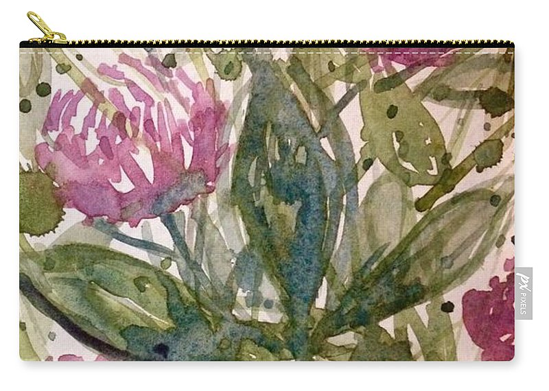 Carry-all Pouch featuring the painting 'harmony, Wisdom And Understanding From The Red Clover' by Michael Richardson