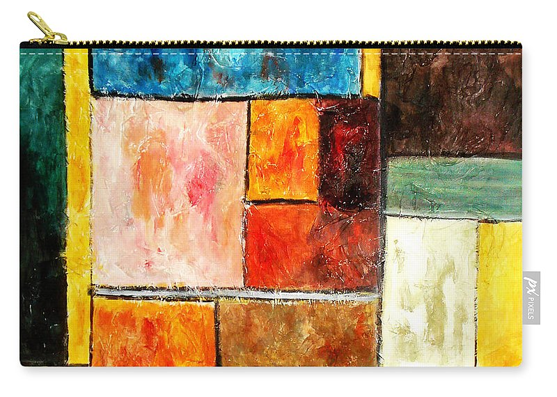 Acrylic Painting Carry-all Pouch featuring the painting Harmony by Yael VanGruber