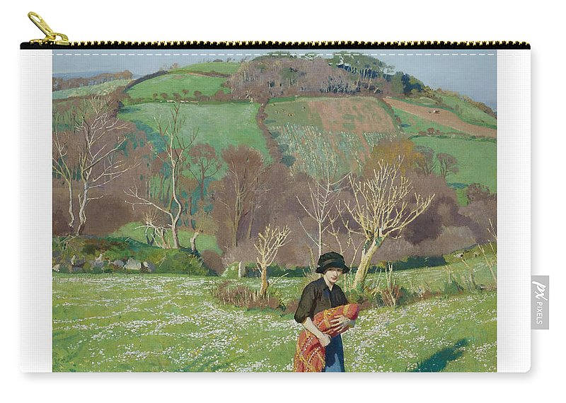 Harold Harvey 1874-1941 British Early Spring Carry-all Pouch featuring the painting Harold Harvey 1874-1941 British Early Spring by Adam Asar