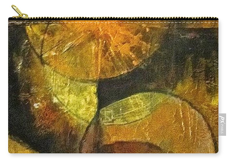 Abstract Carry-all Pouch featuring the painting Harvest by Barbara O'Toole