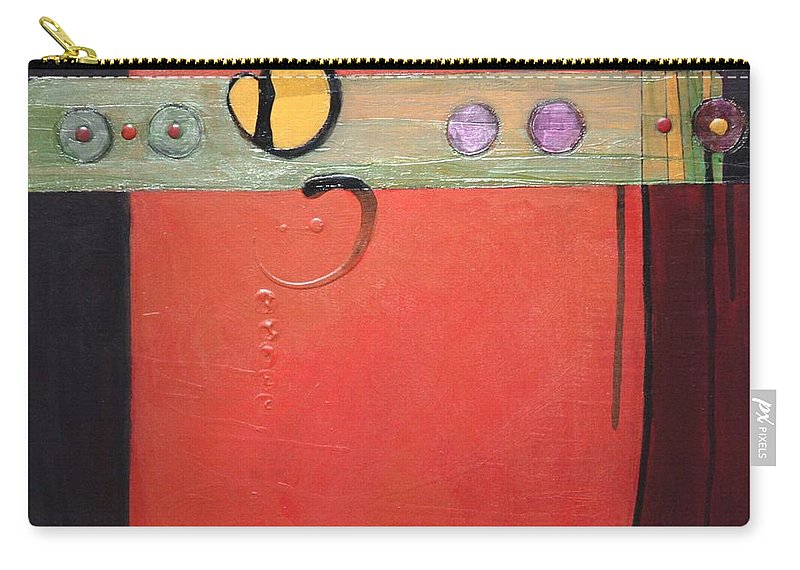 Abstract Carry-all Pouch featuring the painting Harvest Duo 2 by Marlene Burns