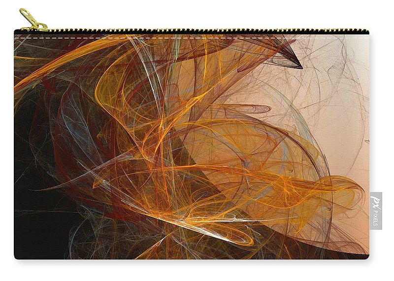 Abstract Expressionism Carry-all Pouch featuring the digital art Harvest Moon by David Lane