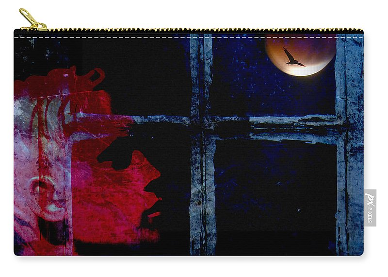 Manipulated Carry-all Pouch featuring the photograph Harvest Moon by LemonArt Photography