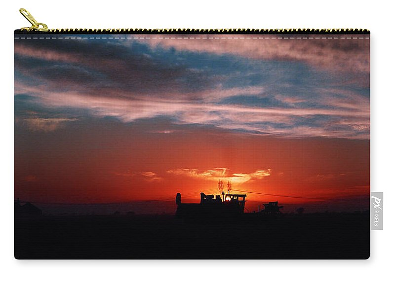 Sunset Carry-all Pouch featuring the photograph Harvest by Peter Piatt