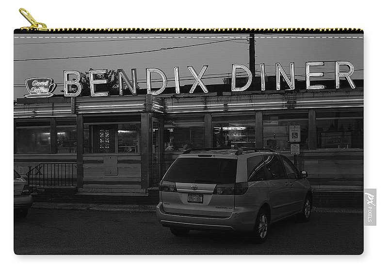 America Carry-all Pouch featuring the photograph Hasbrouck Heights, Nj - Bendix Diner 3 by Frank Romeo