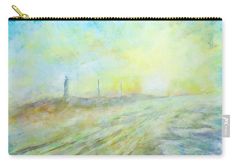 Hatteras Lighthouse Carry-all Pouch featuring the painting Hatteras Lighthouse by Robert Regan
