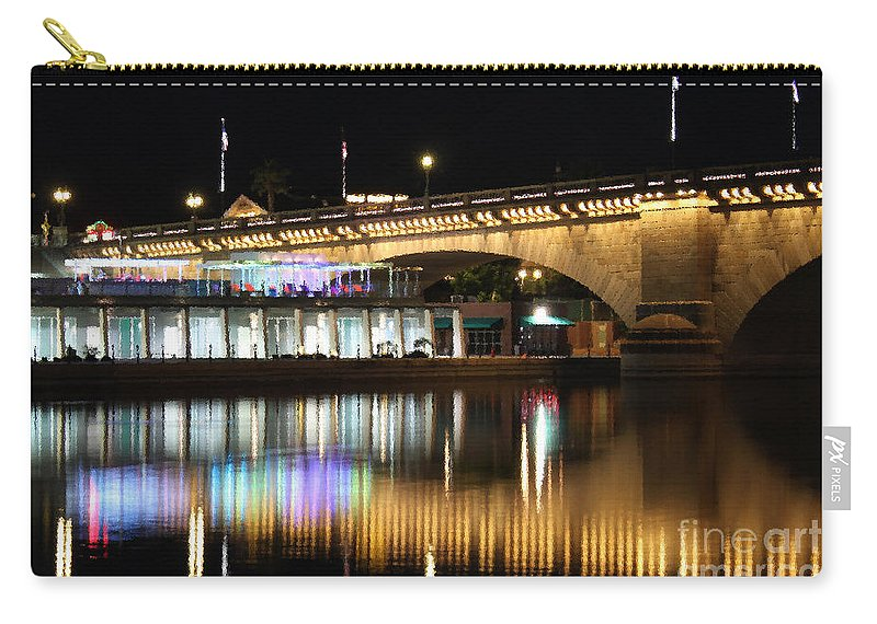 Arches Carry-all Pouch featuring the photograph Havasu Nights by James Eddy
