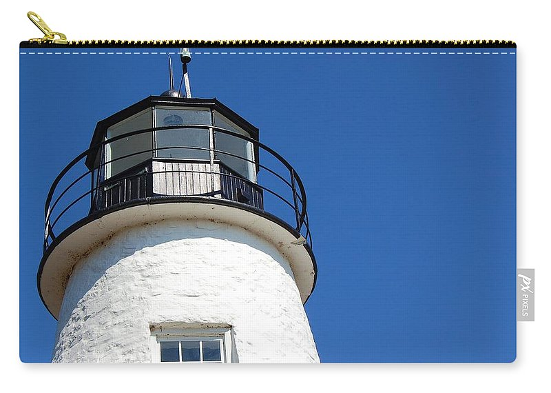 Lighthouse Carry-all Pouch featuring the photograph Havre De Grace Lighthouse 2 by Debbi Granruth