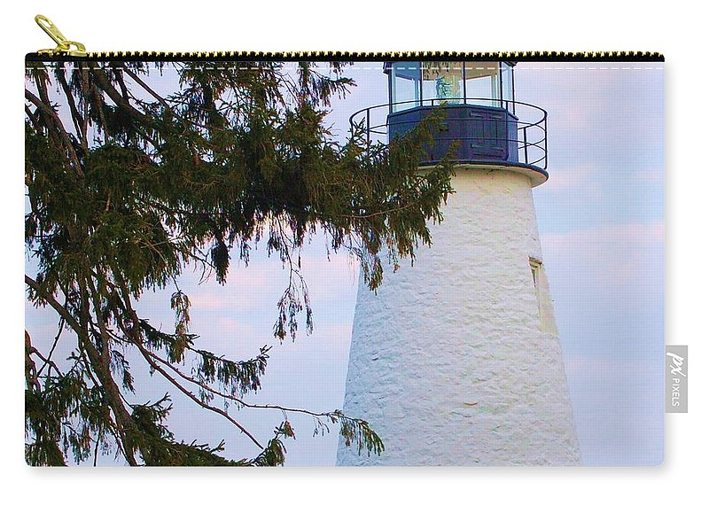 Lighthouse Carry-all Pouch featuring the photograph Havre De Grace Lighthouse by Debbi Granruth
