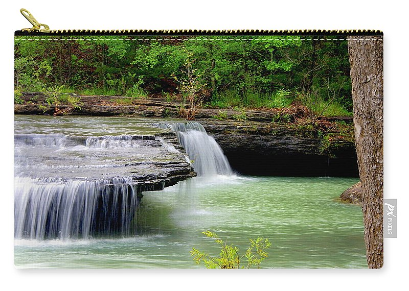 Waterfalls Carry-all Pouch featuring the photograph Haw Creek Falls by Marty Koch