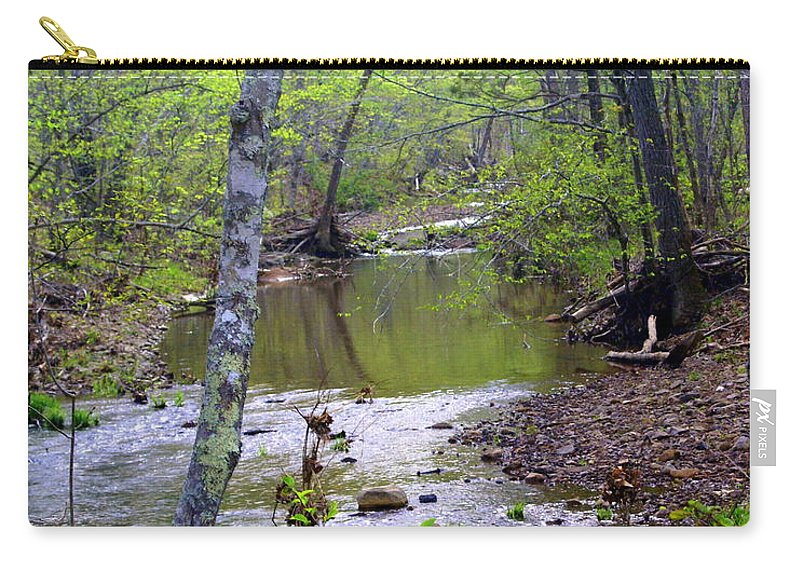 Ozarks Carry-all Pouch featuring the photograph Haw Creek by Marty Koch