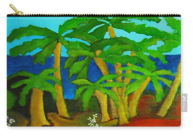 Hawaii Carry-all Pouch featuring the painting Hawaii by Gabby Tary