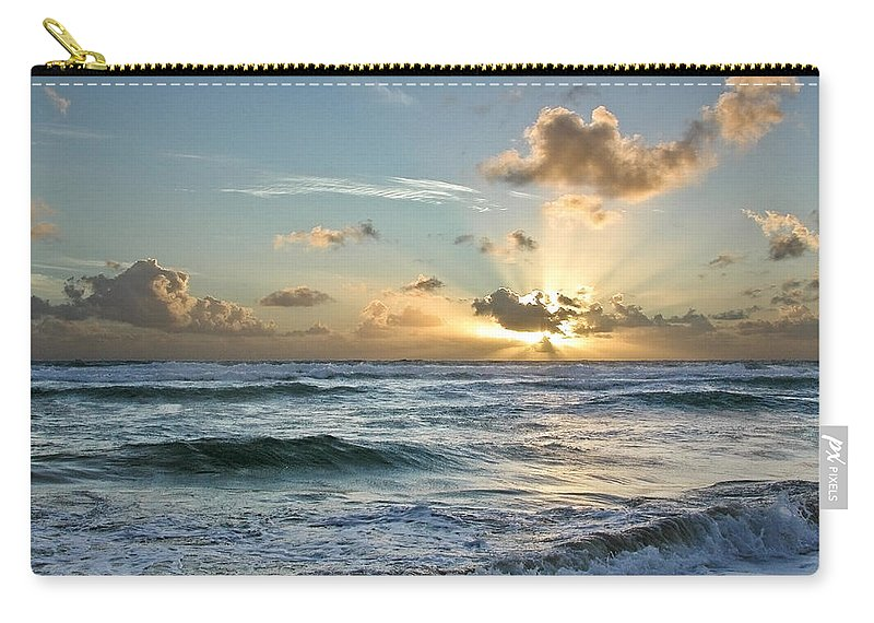 Hawaii Carry-all Pouch featuring the photograph Hawaii Sunrise by Robert Ponzoni