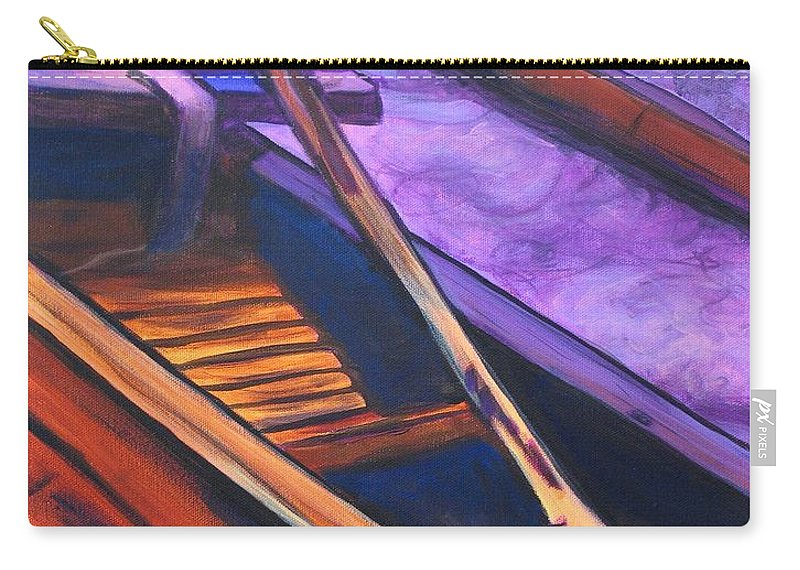 Canoe Carry-all Pouch featuring the painting Hawaiian Canoe by Marionette Taboniar