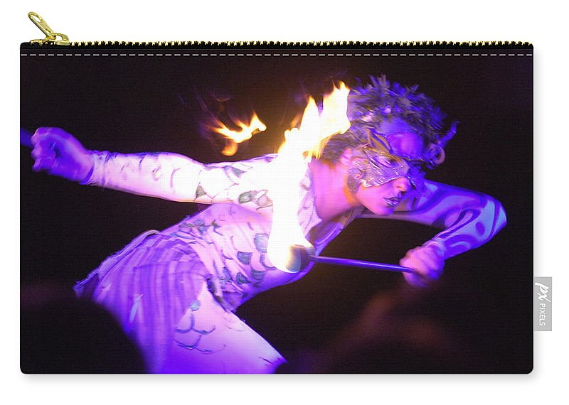 Hawaii Carry-all Pouch featuring the photograph Hawaiian Luau Fire Eater 2 by Jill Reger