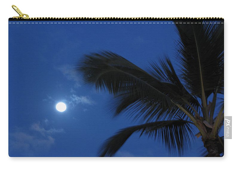 Moon Carry-all Pouch featuring the photograph Hawaiian Moon by Sarah Houser