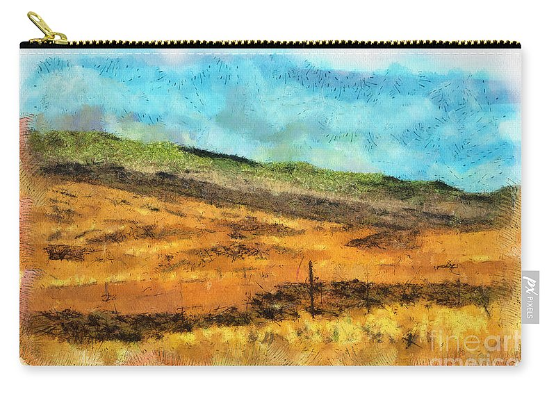 Photograph Carry-all Pouch featuring the photograph Hawaiian Pasture by Paulette B Wright