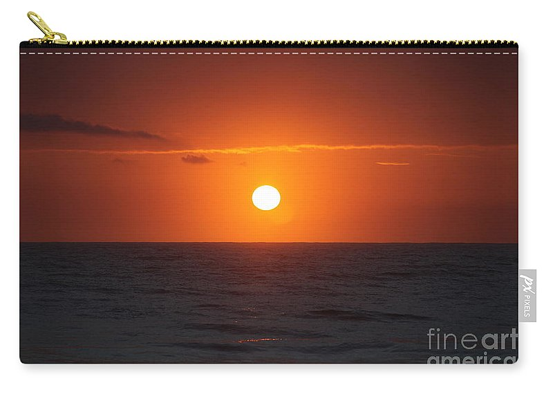 Sunrise Carry-all Pouch featuring the photograph Hawaiian Sunrise by Nadine Rippelmeyer