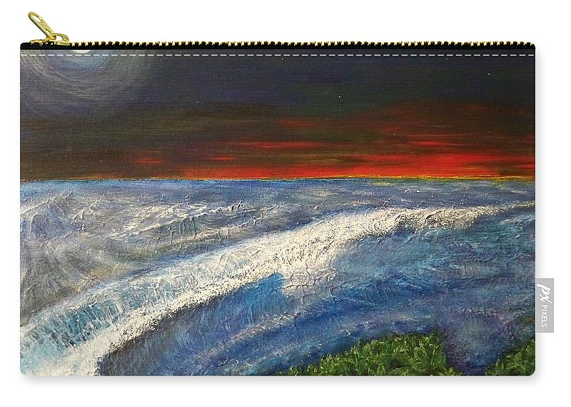Beaches Carry-all Pouch featuring the painting Hawiian View by Michael Cuozzo