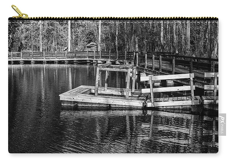 35mm Film Carry-all Pouch featuring the photograph Hawk Island Michigan Dock by John McGraw
