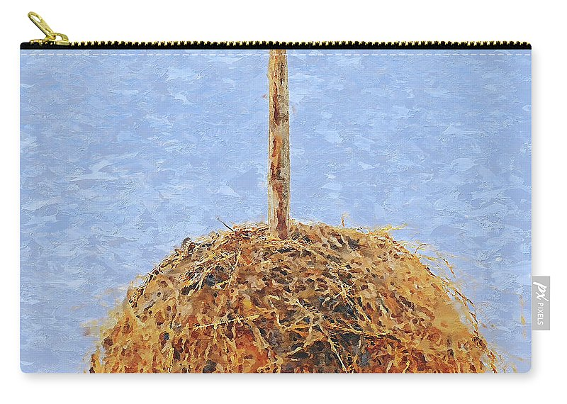 Hay Carry-all Pouch featuring the photograph Hay Bale by Pekka Liukkonen