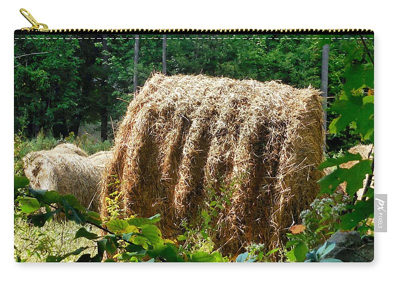 Hay Bay Rolls Carry-all Pouch featuring the painting Hay Bay Rolls 2 by Jeelan Clark