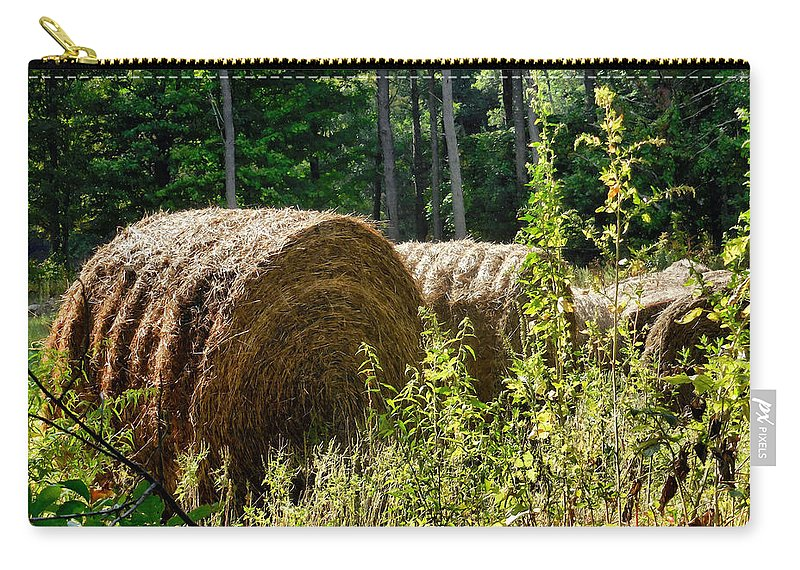 Hay Bay Rolls Carry-all Pouch featuring the painting Hay Bay Rolls by Jeelan Clark