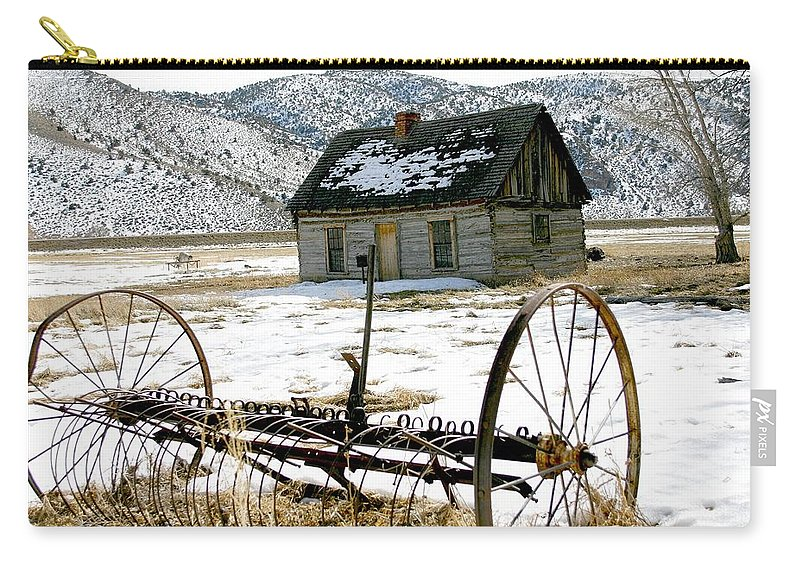 Utah Carry-all Pouch featuring the photograph Hay Rake At Butch Cassidy by Nelson Strong