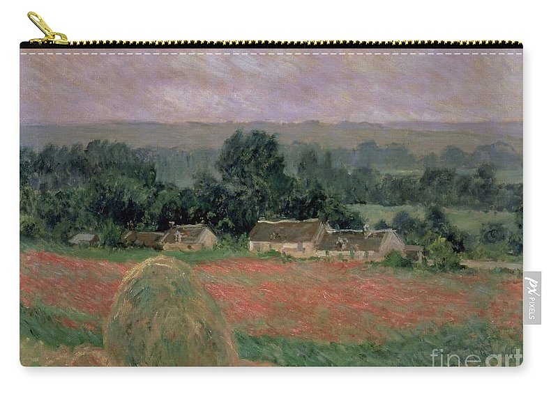 Monet Carry-all Pouch featuring the painting Haystack At Giverny by Claude Monet
