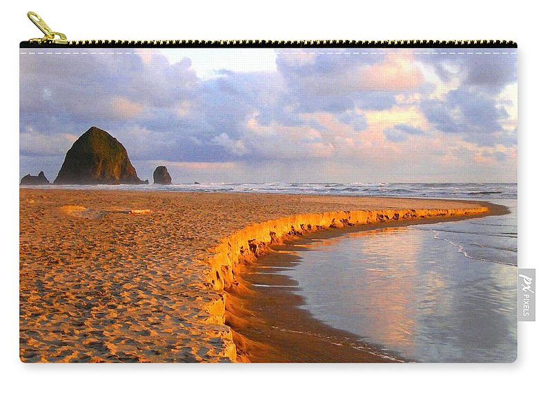 Haystack Heaven Carry-all Pouch featuring the digital art Haystack Heaven by Will Borden