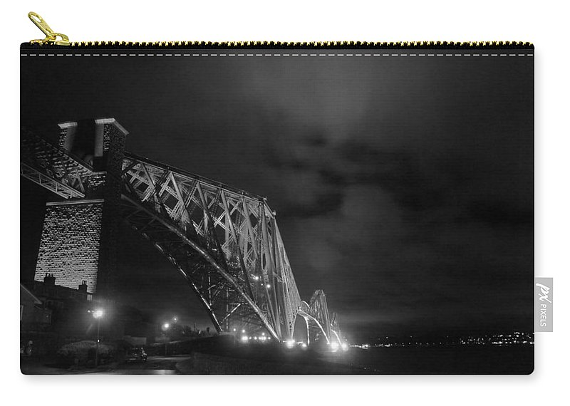 North Queensferry Carry-all Pouch featuring the photograph Hazy Lights In The Night by Elena Perelman