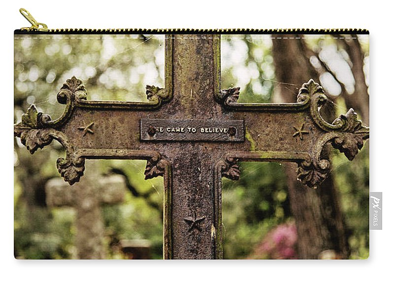 Cross Carry-all Pouch featuring the photograph He Came To Believe by Scott Pellegrin