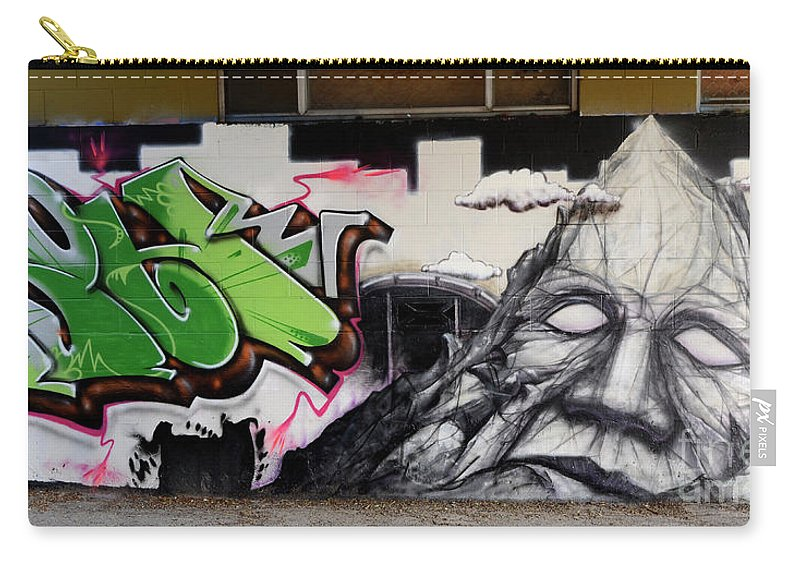 Graffiti Carry-all Pouch featuring the photograph He Is Really Nice Mom by Bob Christopher