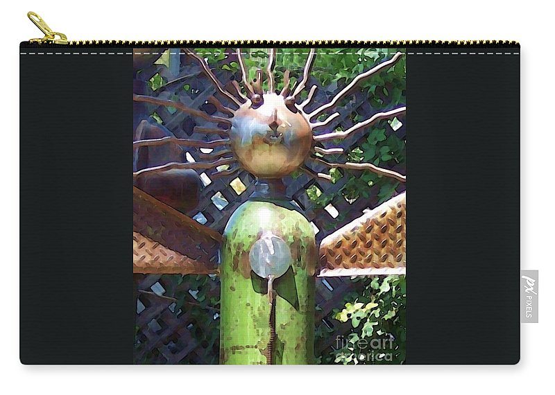 Sculpture Carry-all Pouch featuring the photograph Head For Detail by Debbi Granruth